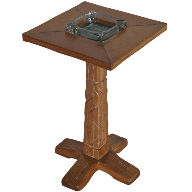 Oak Ashtray Table By Brandt Ranch At 1stdibs