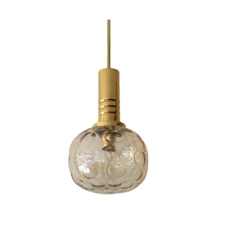 Austrian Amber Globe Pendants