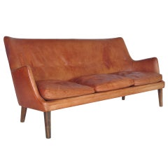 Leather Sofa by Arne Vodder