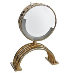French Brass Vanity Mirror