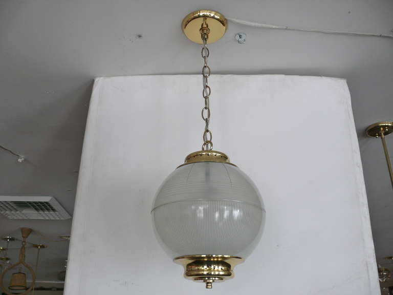Italian Azucena Globe Pendant For Sale
