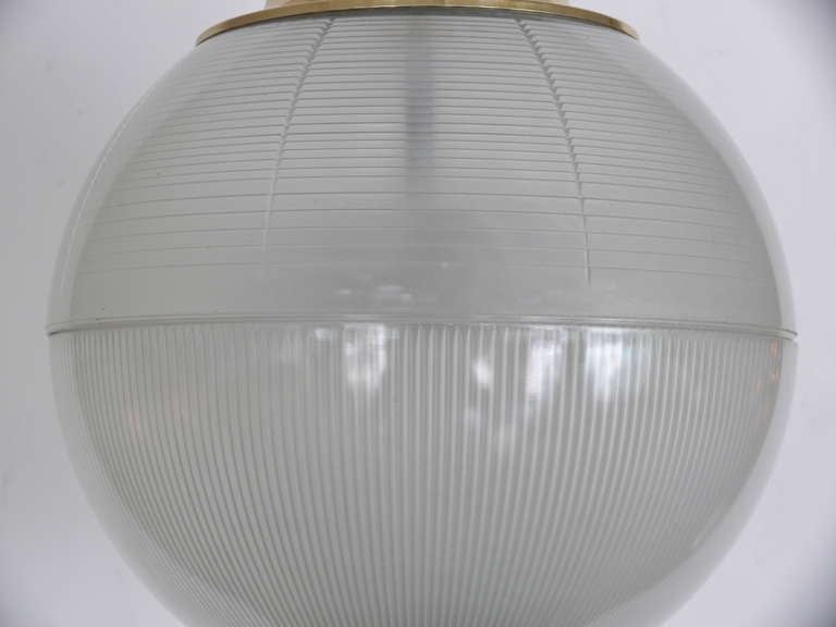 Brass Azucena Globe Pendant For Sale