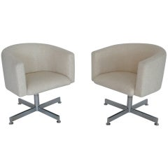 Pair of Stendig Swivel Chairs