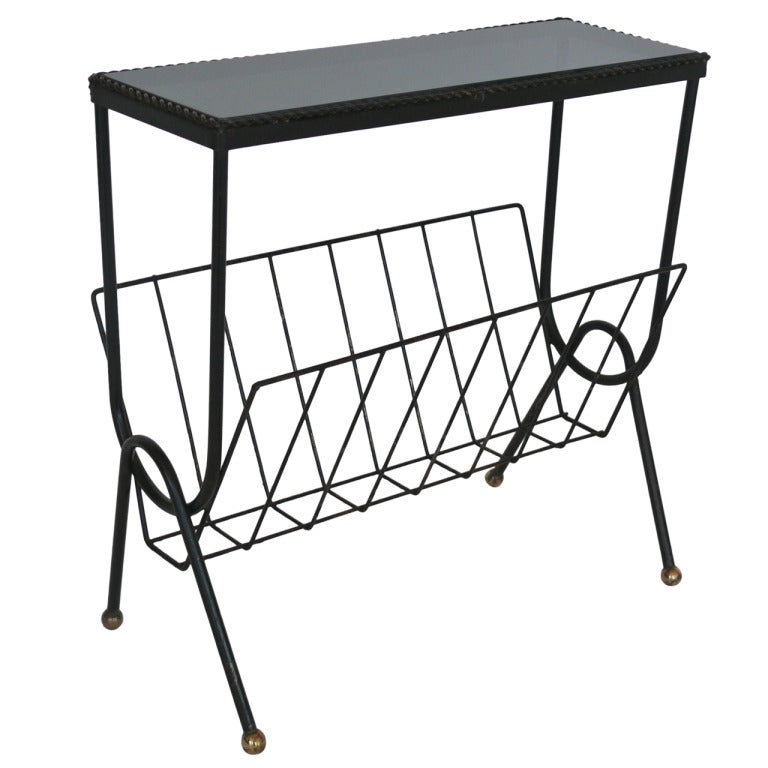 French iron side table and magazine rack at 1stdibs for 13 a table magasin