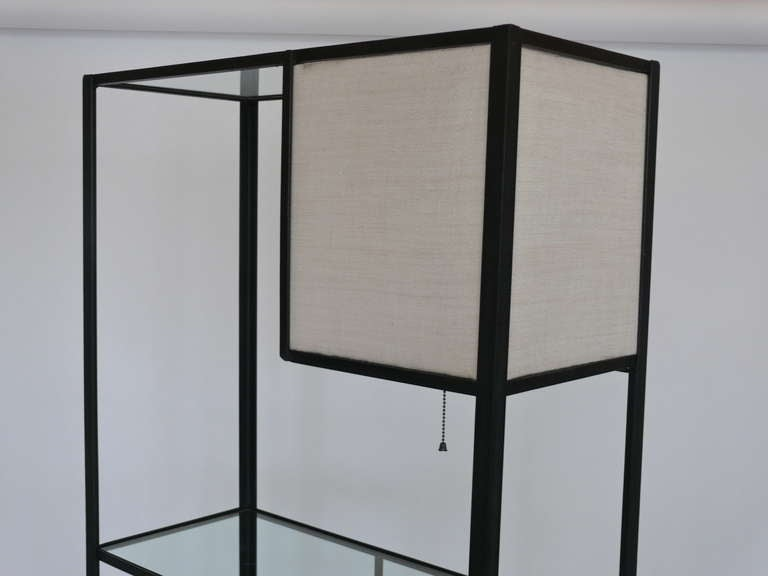 large fredrick weinberg iron etagere at 1stdibs. Black Bedroom Furniture Sets. Home Design Ideas
