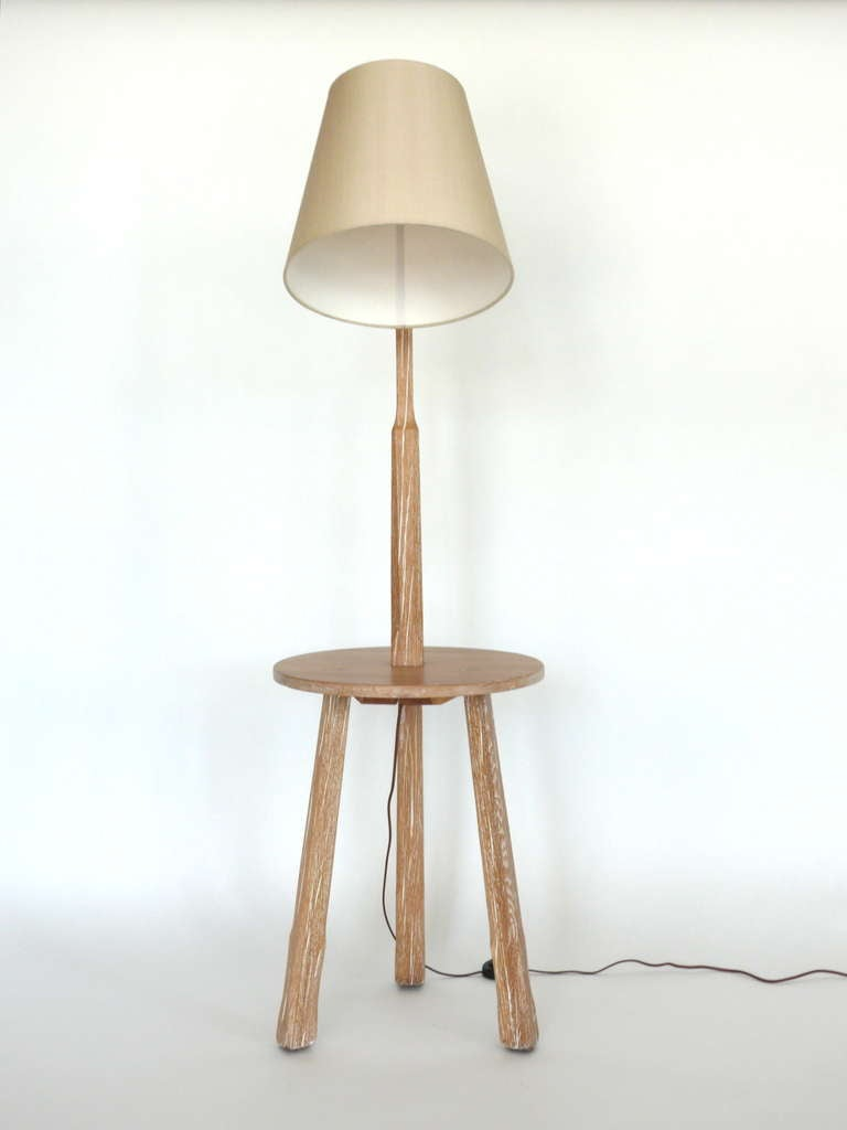 Oak floor lamp with table by brandt ranch at 1stdibs oak floor lamp with table by brandt ranch 3 geotapseo Images