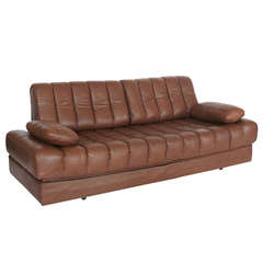 Leather and Chrome Sofa Bed by De Sede