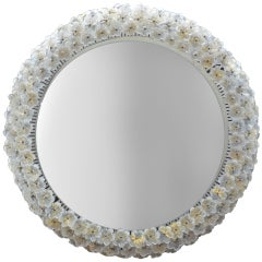Barovier Flower Glass Back Lit Mirror