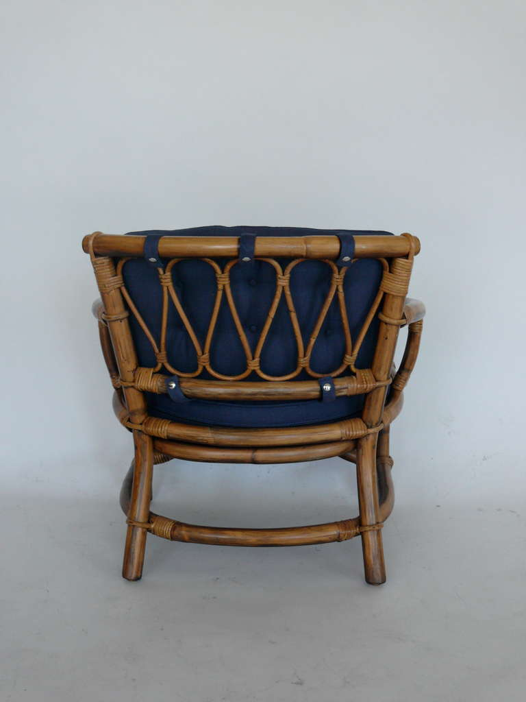 Rattan and Bamboo Armchairs by Ficks Reed at 1stdibs