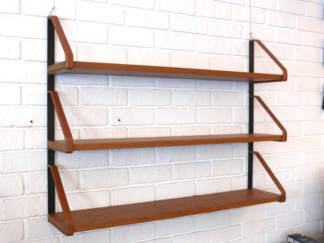 American Jacques Adnet Style Bookshelf For Sale
