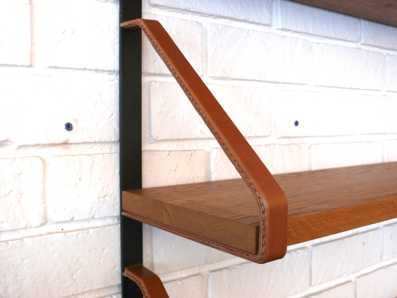 Contemporary Jacques Adnet Style Bookshelf For Sale