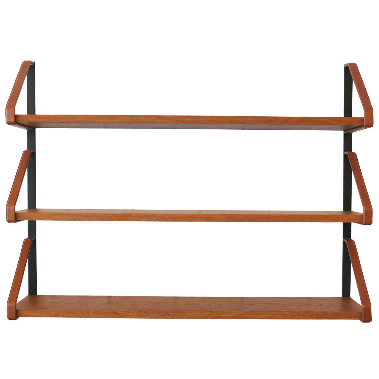 Jacques Adnet Style Bookshelf For Sale