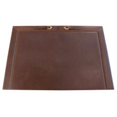 Leather Gucci Desk Blotter