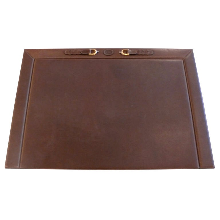 leather gucci desk blotter at 1stdibs