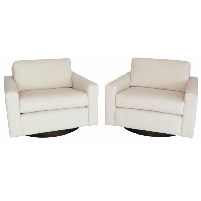 Cube Swivel Chairs at 1stdibs