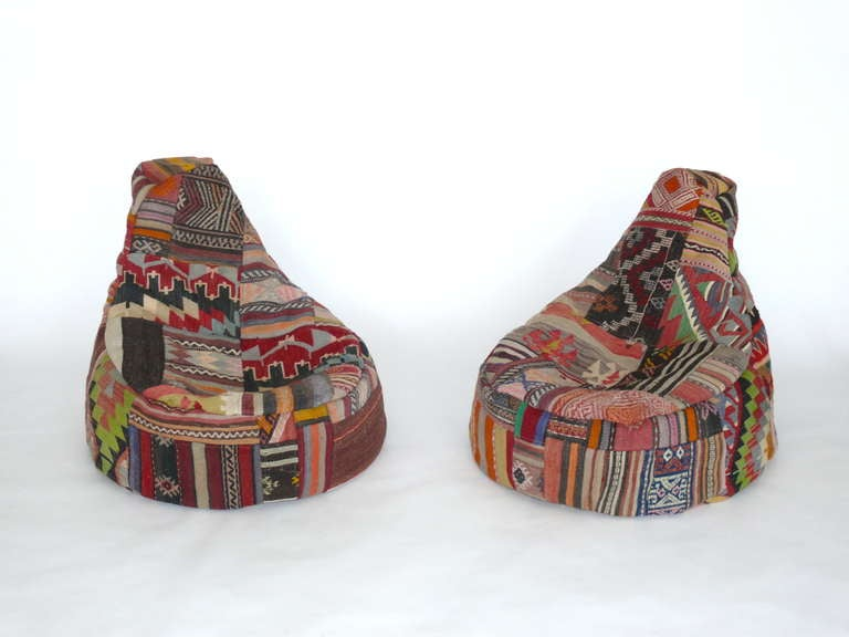 Vintage Turkish Bean Bag Chairs At 1stdibs