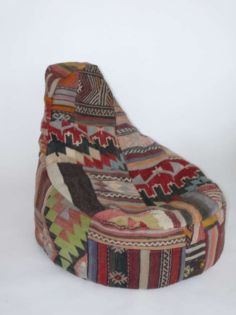 Vintage Turkish Bean Bag Chairs At 1stdibs