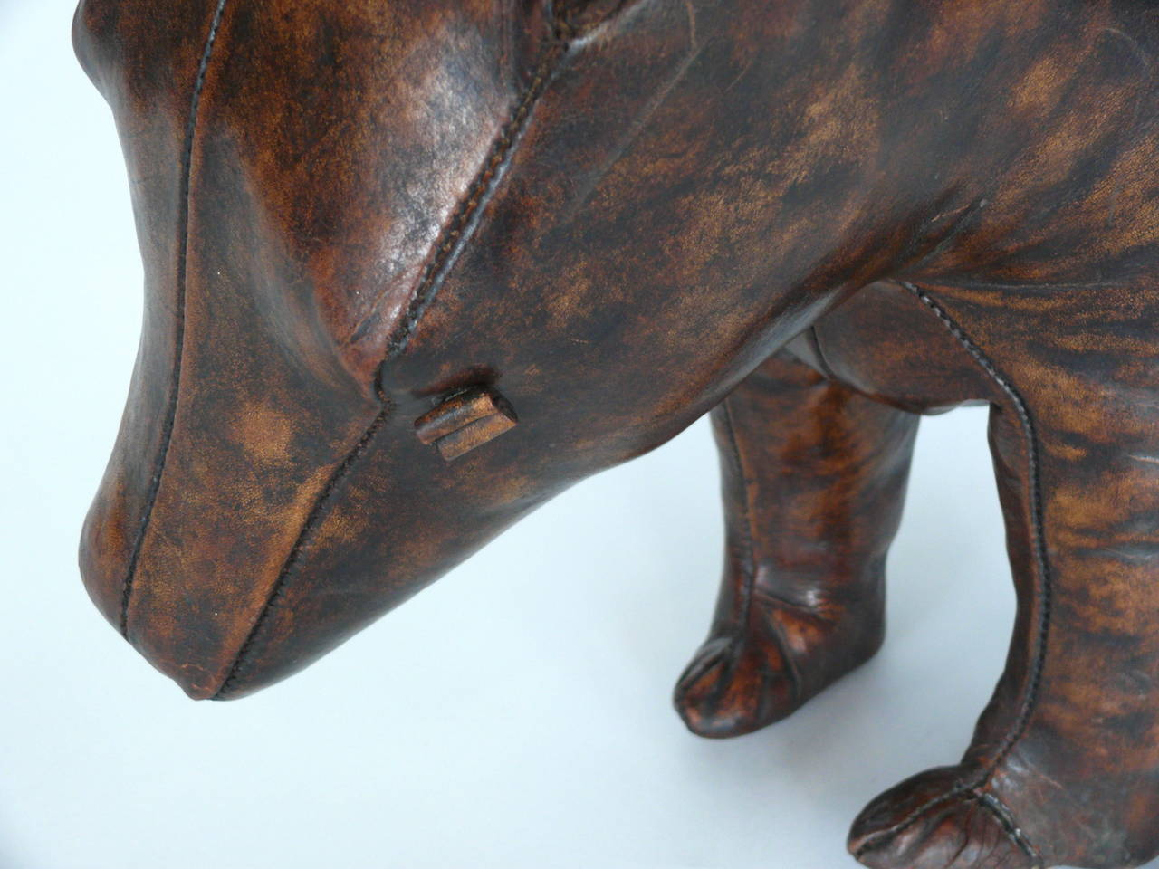 Leather Bear By Omersa At 1stdibs