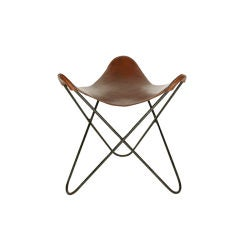 Leather Butterfly Saddle Stool