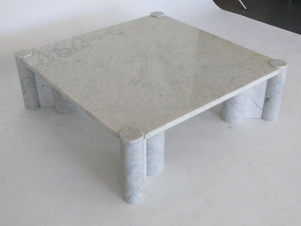 Gae Aulenti Marble Coffee Table At 1stdibs