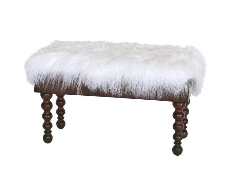 Mongolian Fur Piano Bench At 1stdibs