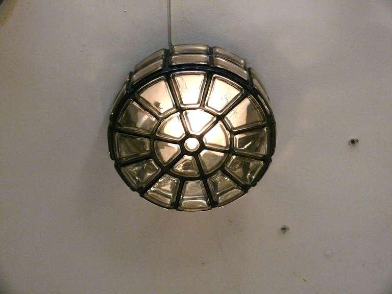 Metal Geometric Glass Flush Mount For Sale