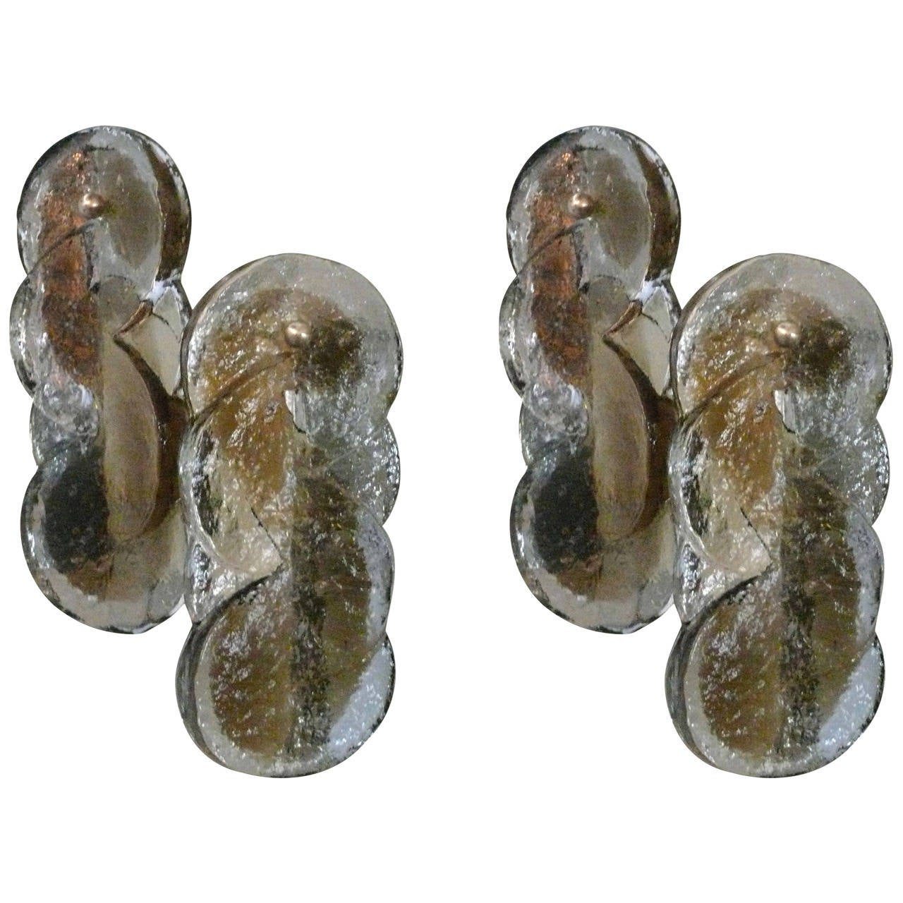 Petite Kalmar Swirl Sconces For Sale