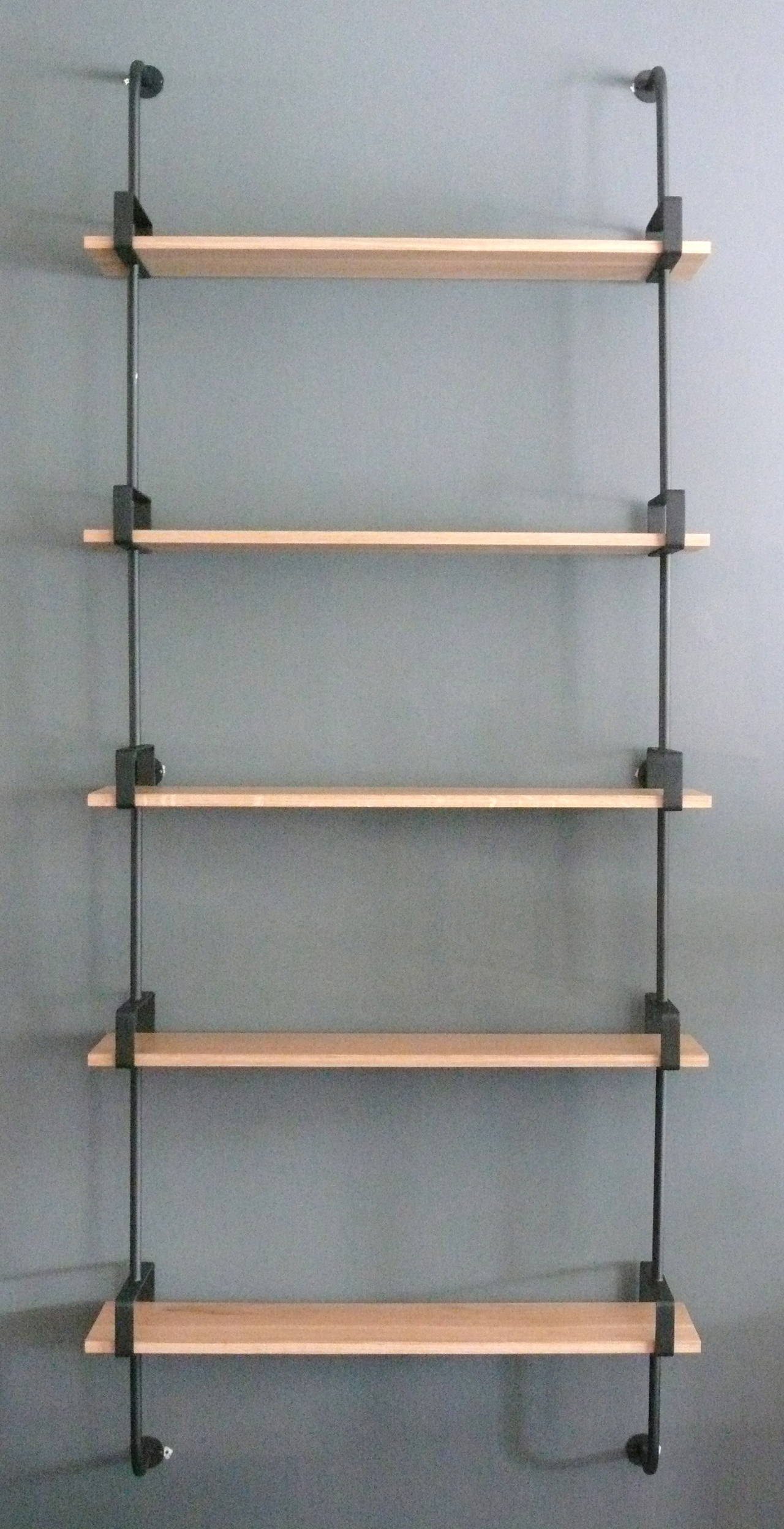 French Iron and Oak Wall Shelves 2