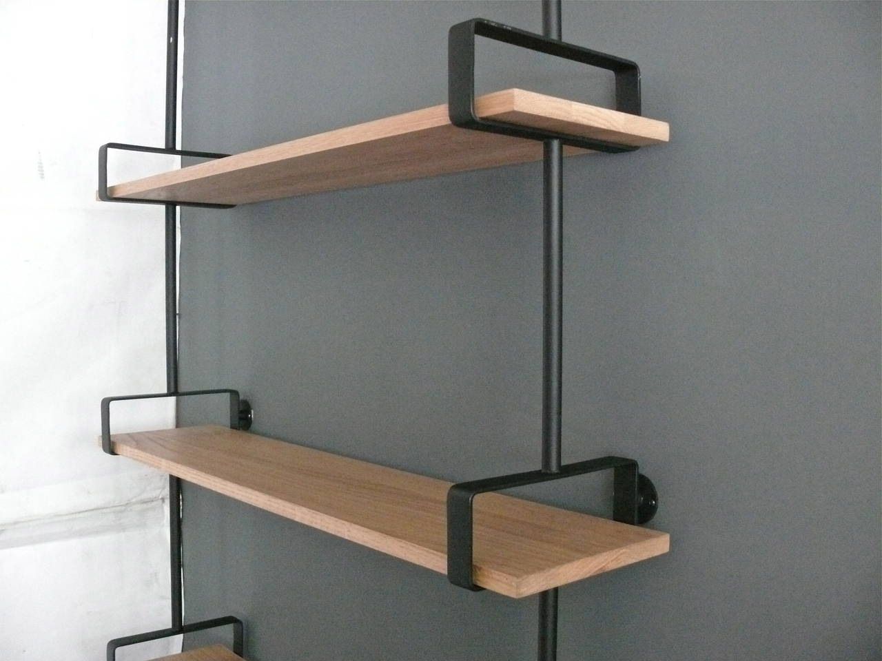 French Iron and Oak Wall Shelves 5