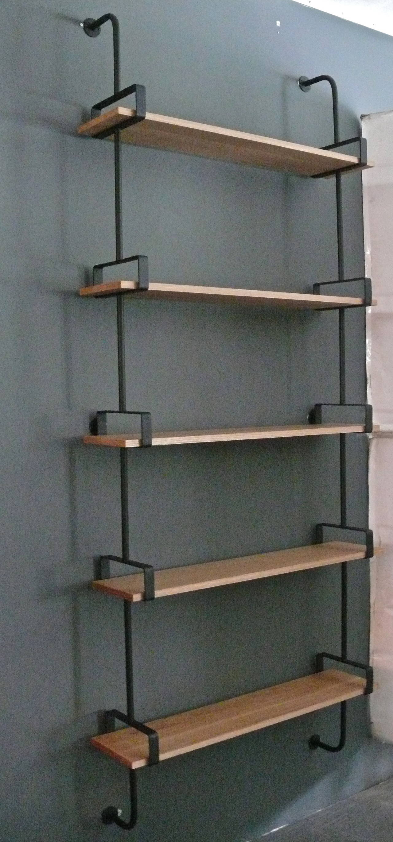 French Iron and Oak Wall Shelves 3