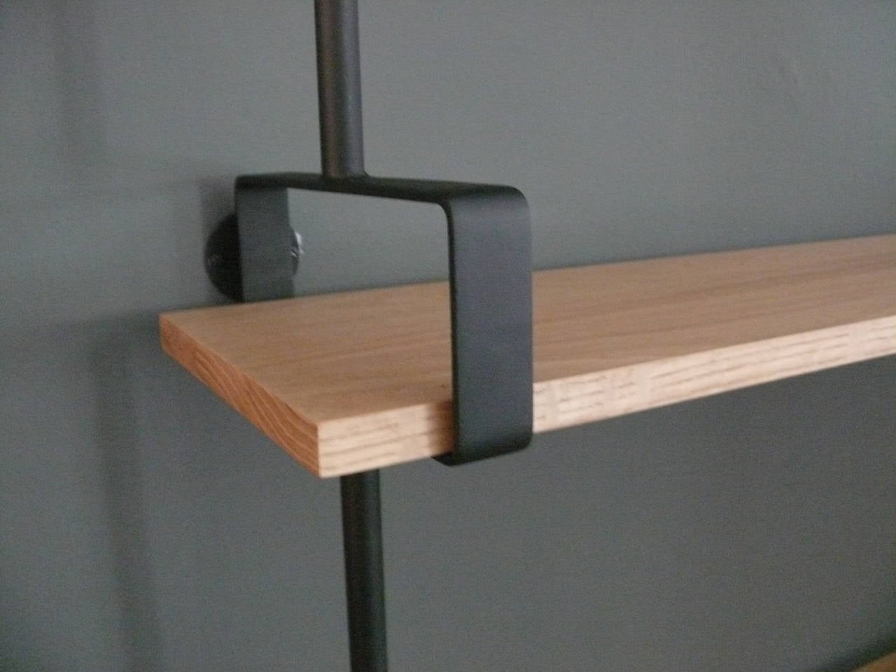 French Iron and Oak Wall Shelves 6