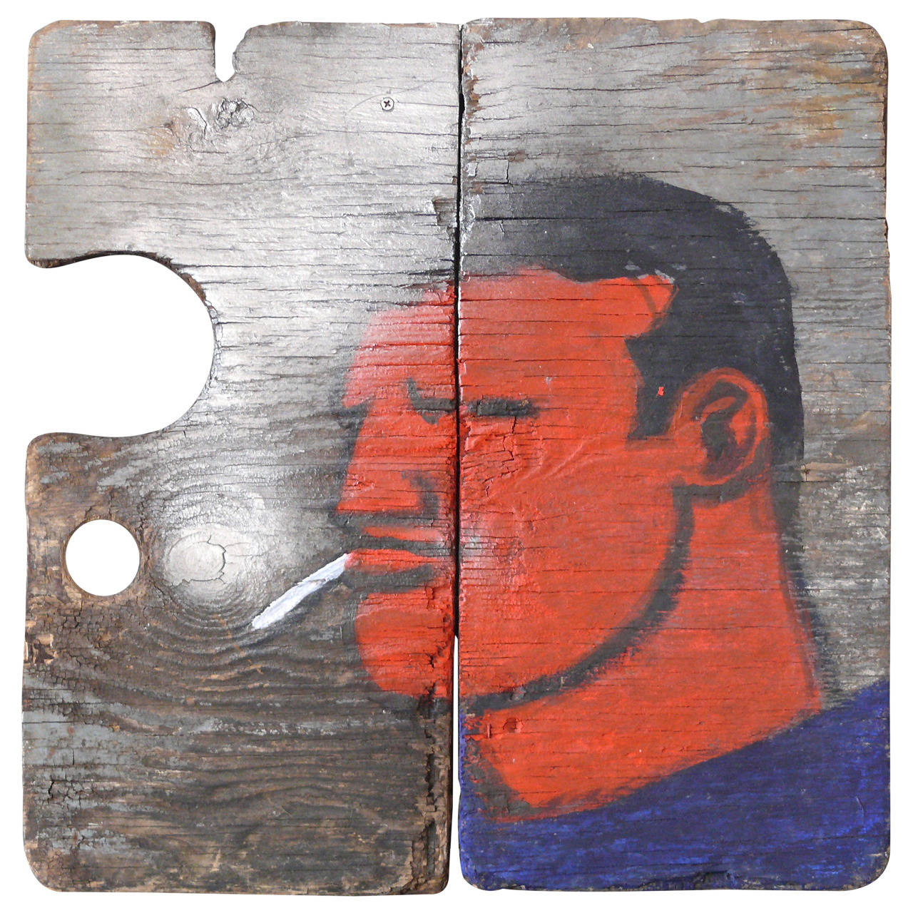 Robert Loughlin Painting on Wood 1