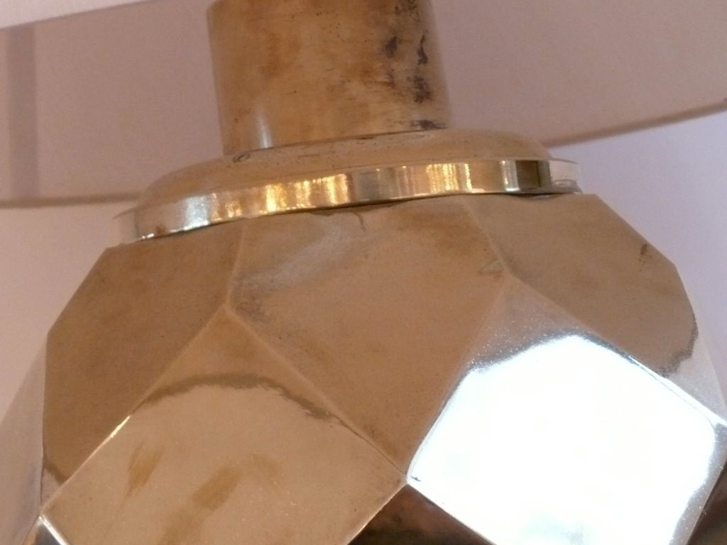 Hexagon Ceramic Brass Lamps by Chapman 2