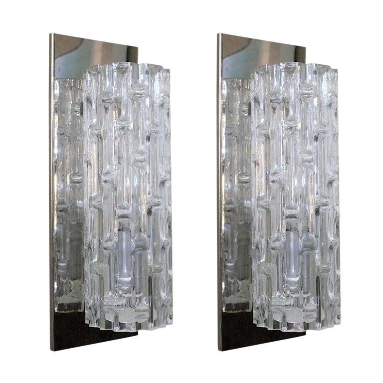 Glass Tube Wall Lights : Italian Glass Tube Sconces at 1stdibs