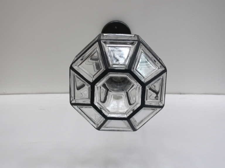 Iron And Glass Lantern Pendant For Sale At 1stdibs