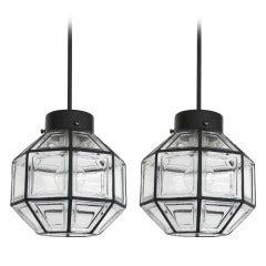 Iron and Glass Lantern Pendant