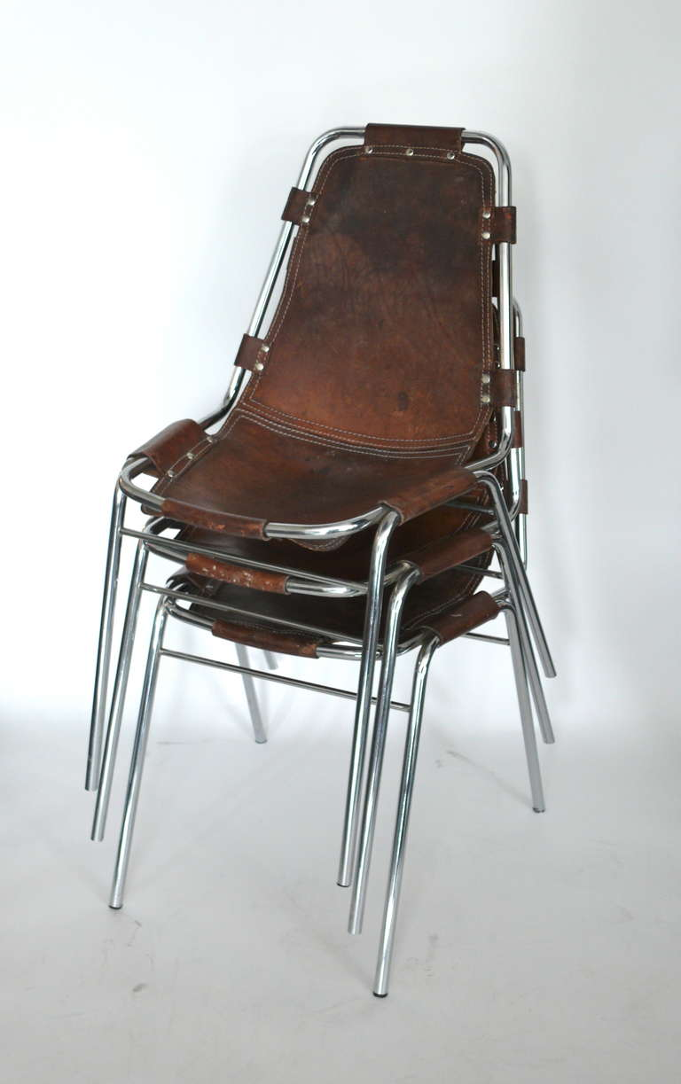 Charlotte Perriand Les Arc Chairs At 1stdibs