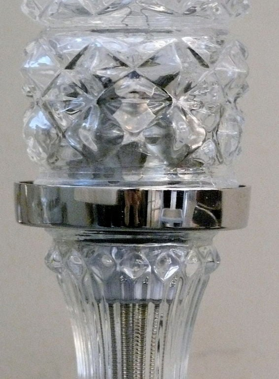 Italian Crystal Torchiere Sconces at 1stdibs