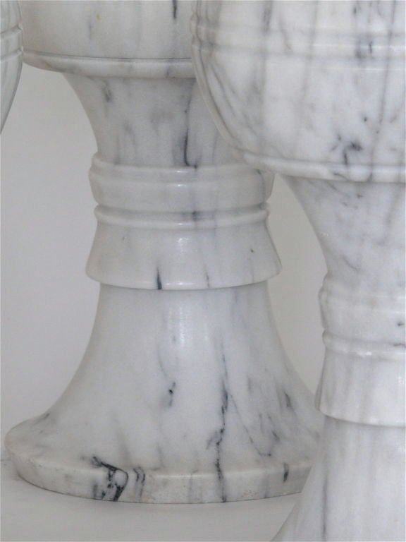 20th Century Carved Marble Garden Stools For Sale