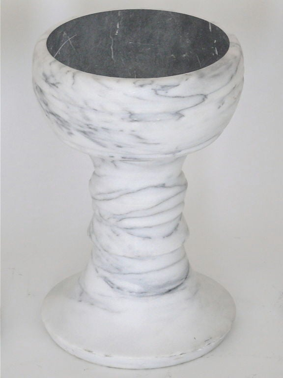 Carrara Marble Carved Marble Garden Stools For Sale