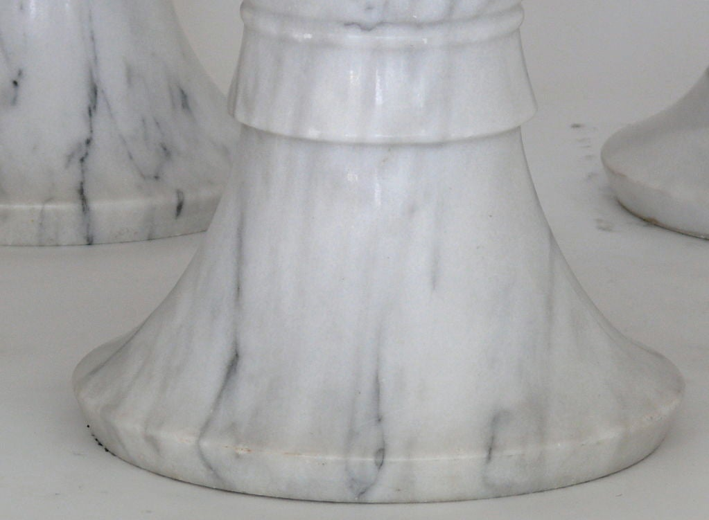Carved Marble Garden Stools For Sale 4