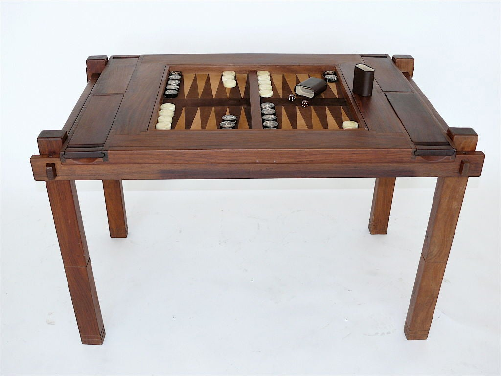 reversible backgammon chess table at 1stdibs. Black Bedroom Furniture Sets. Home Design Ideas