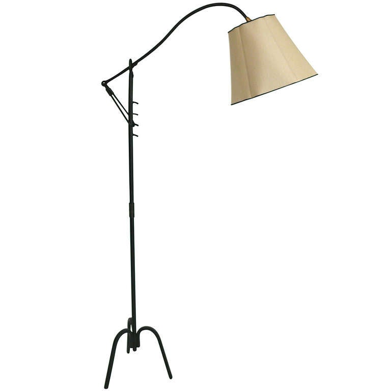 Royere style iron floor lamp at 1stdibs - Artistic d lamp shade designed with modern and elegant shape style ...