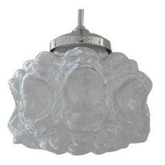 Austrian Textured Glass Pendant