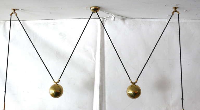 Contemporary Florian Schulz Double Counter Balance Pendants For Sale