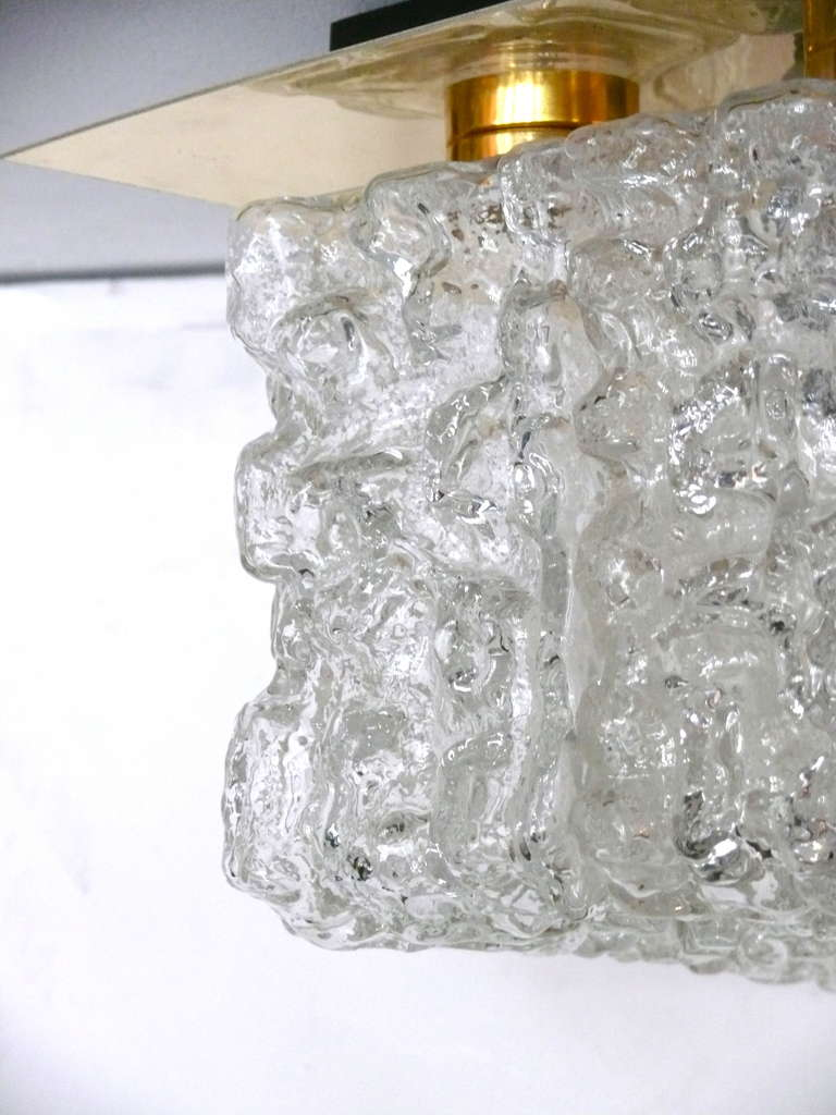 Ice Glass Flush Mount For Sale 1