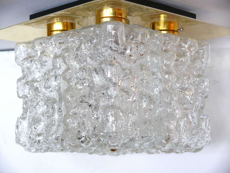 Ice Glass Flush Mount For Sale 2
