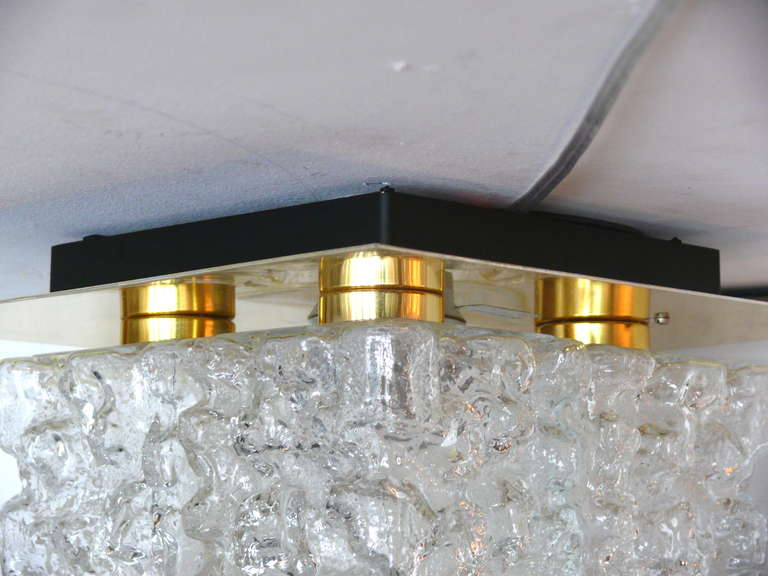 Ice Glass Flush Mount For Sale 3