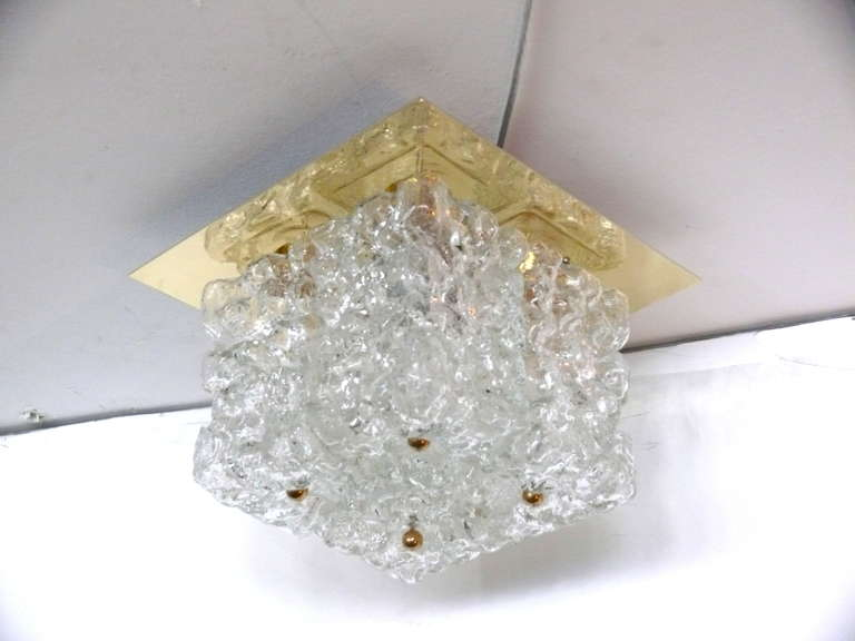 Ice Glass Flush Mount For Sale 4