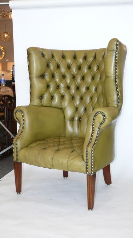 Curved Wingback Chair At 1stdibs